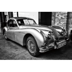 Classic 1950s Jaguar XK120 Car Tempered Glass Wall Art Picture - 80cm x 120cm