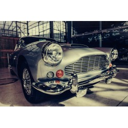 Classic 1960s Aston Martin Car Tempered Glass Wall Art  - 80cm x 120cm