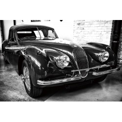 Classic Jaguar XK140 Car Tempered Glass Wall Art - 80cm x 120cm