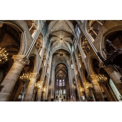 Notre Dame Cathedral Tempered Glass Wall Art - 80cm x 120cm