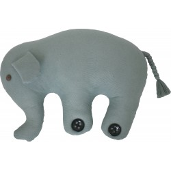 Knitted Elephant Cushion - Blue
