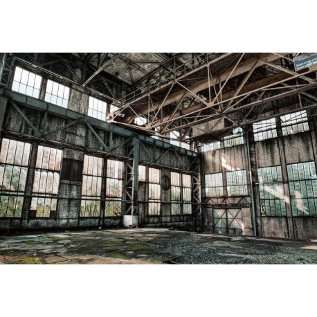 Abandoned Warehouse Tempered Glass Wall Art - 80cm x 120cm