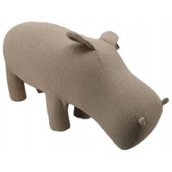 Large Knitted Hippo stool