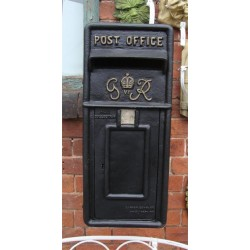 Cast Iron Replica Royal Mail GR Black Post Box