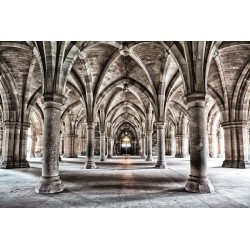Glasgow University Cloisters Tempered Glass Wall Art -120cm x 180cm