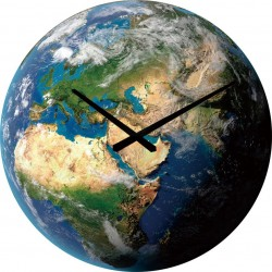 'Earth' Tempered Glass Clock