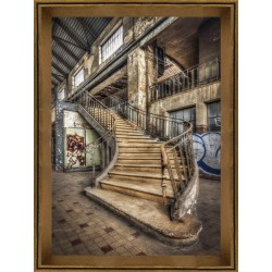 Dilapidated Stairwell Framed Wall Art - 80cm x 60cm