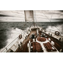 Sailing Yacht Tempered Glass Wall Art - 120cm x 160cm