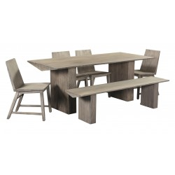 Giza - Modern Contemporary Dining Furniture Set - Solid Acacia Wood