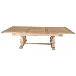 Reclaimed Elm Solid Wood Dining Table - Extendable 160 cm to 220 cm