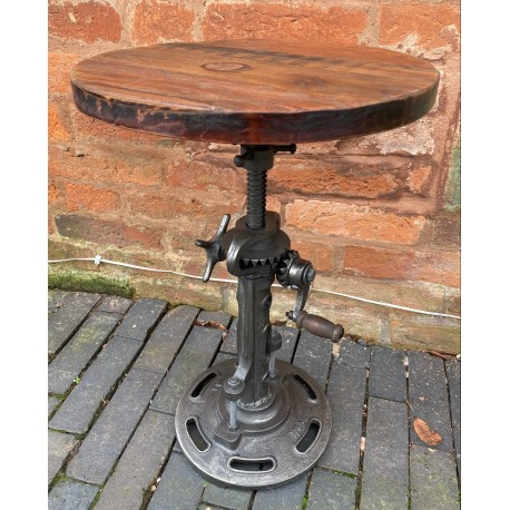 Industrial Style Iron Stool with Wooden Top
