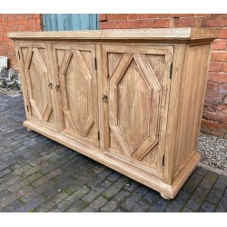 Reclaimed Elm Solid Wood Sideboard / Buffet / Credenza - 3 Doors - 150cm Long
