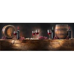 Framed Acrylic Wall Art -Wine - 60 cm x 160 cm
