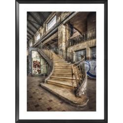 Dilapidated Stairwell Framed Wall Art - 80cm x 60cm