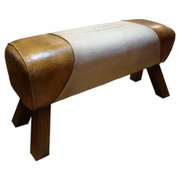 Paris Print Pommel Horse Style Bench