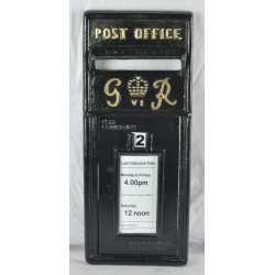 Replica Royal Mail GR Black Post box Letter Box Front Only - Cast Iron - Lockable with Keys