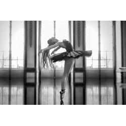 Glass Wall Art - Ballerina Lady Ballet Tutu Dance Pose 120cm x 80cm