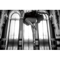 Glass Wall Art - Ballet Lady Legs Ballerina Dance - 120cm x 80cm
