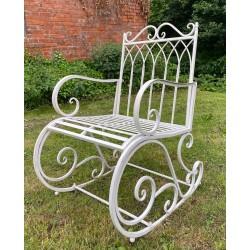 Garden Rocking Chair Seat - Iron Metal (Cream)