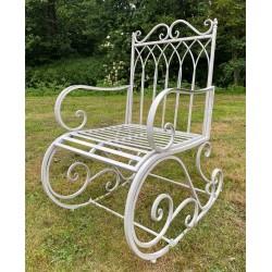 Garden Rocking Chair Seat - Iron Metal (Grey)