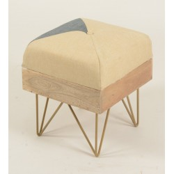 Retro / Vintage Style Square Pouffe / Footstool