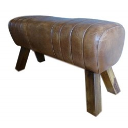 Genuine Leather Bench Pommel Horse Style