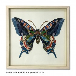 Decoupage Butterfly with Wood Frame