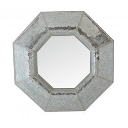 Octagonal Silver Mosaic Wall Mirror