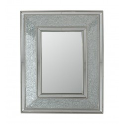 Rectangular Silver Mosaic Wall Mirror