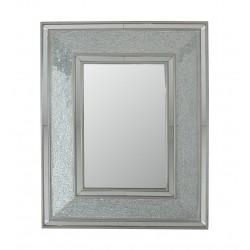 Rectangular Silver Mosaic Wall Mirror