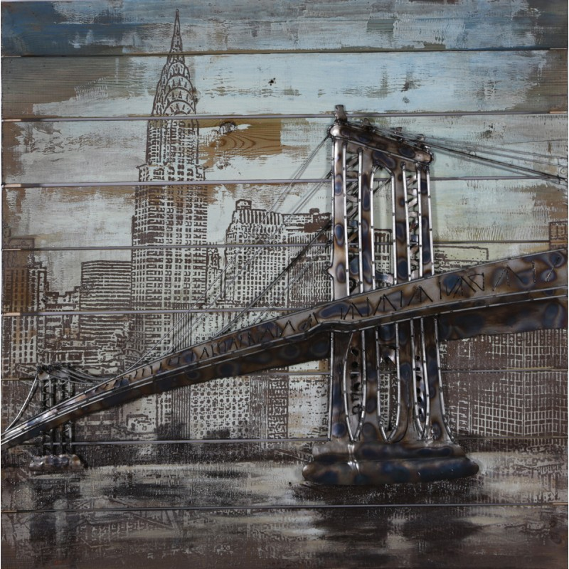 Brooklyn Bridge 3d Metal Wall Art Blackbrook Interiors