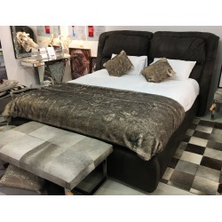 Super King Size Genuine Leather Bed