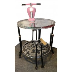 Decorative Bicycle Table with Glass Top