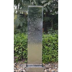 Stainless Steel Fountain / Water Feature - 200cm High - Contemporary