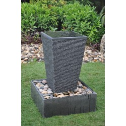 Contemporary Granite Fountain / Water Feature - 85cm High - Indoor or Outdoor