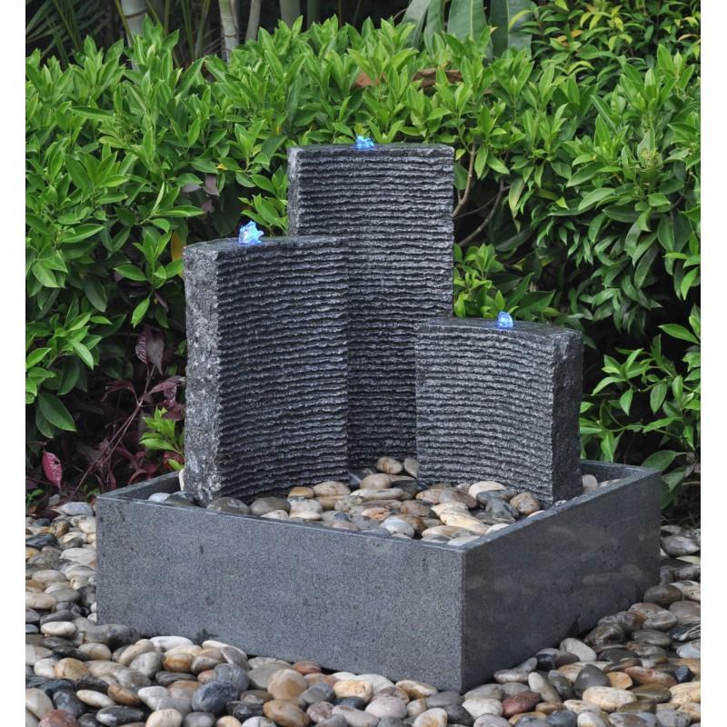 Contemporary Granite Water Fountain 78cm High Triple