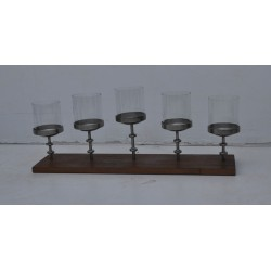 Rustic Candle Holder - Glass Included - 80cm