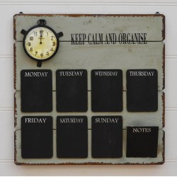 Wooden Notice Board Organiser