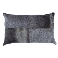 Cowhide Leather Cushion - Grey