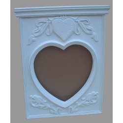 Mango Wood Mirror Frame - 80cm x 67cm - White