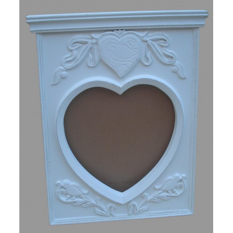 Mango Wood Mirror Frame - 80cm x 67cm - White