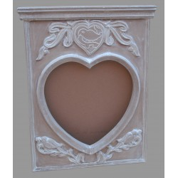 Mango Wood Mirror Frame - 80cm x 67cm - Natural