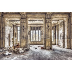 Dilapidated Building Tempered Glass Wall Art - 100cm x 150cm