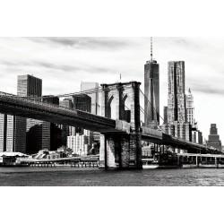 Metallic Fused Glass Art Brooklyn Bridge - 120cm x 80cm