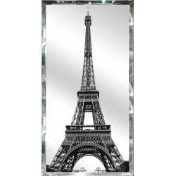 Eiffel Tower in Mirror Glass Frame 120cm x 60cm