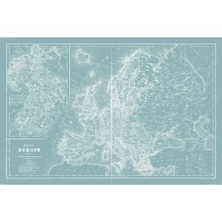 Framed Canvas Map of Europe 80cm x 120cm