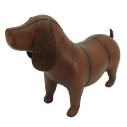 Small Handmade Leather Dog Footstool