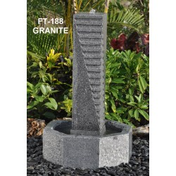 Granite Fountain / Water Feature - 88cm High - Indoor or Outdoor