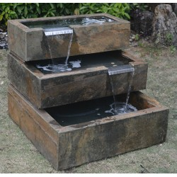 Slate Fountain / Water Feature - 75cm High