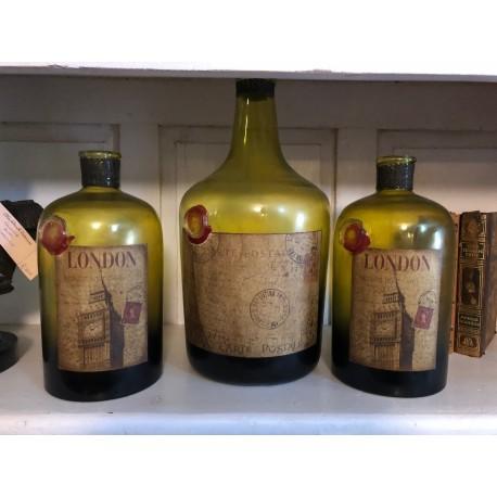 Set of 3 Decorative Glass Vases